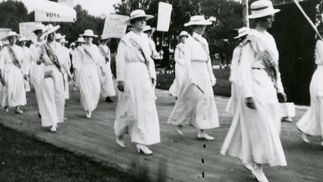 Anne Dudley led a march from the Tennessee capital to Centennial Park in 1913.