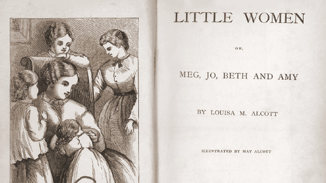 The inside page of Little Women