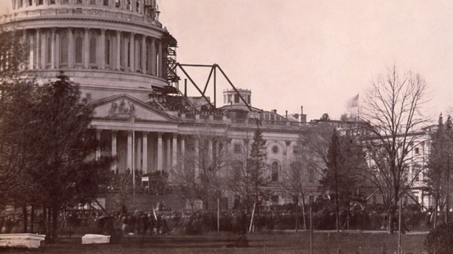 The White House in 1861.