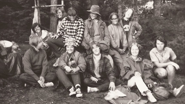 The first group of young women to participate in an Outward Bound survival school course in 1965.