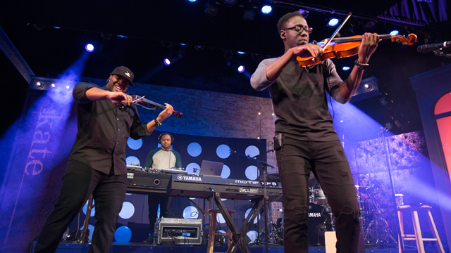 Kev Marcus (left) and Wil B (right) of Black Violin take inspiration from both Bach AND Biggie in their dynamic and rocking performance.