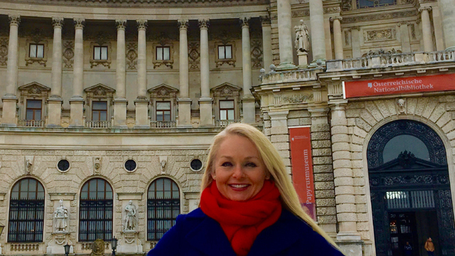 Getting curious at Vienna's Hofburg, the former imperial palace of the Habsburg dynasty.
