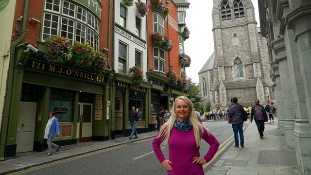 Award-winning travel writer and host Christine van Bloklandetting curious about Dublin's iconic pubs and historic churches.