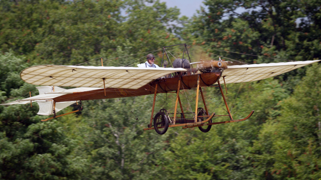 At the Old Rhinebeck Aerodrome in NY, vintage aircraft from 1919 to WWI fly in airshows all summer long