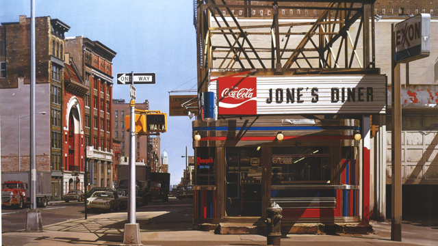 """Jone's Diner"" by photorealist painter Richard Estes"